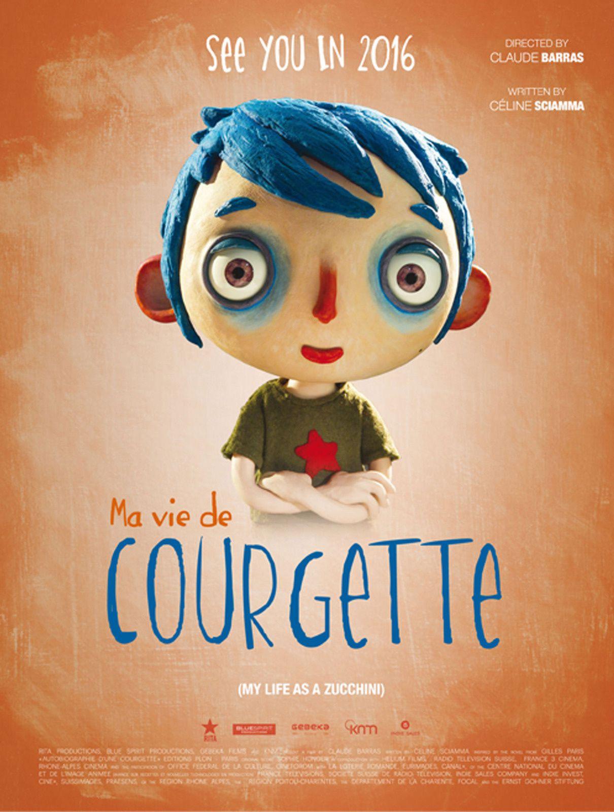 #Cinema #Oscars : Ma vie de Courgette nommé dans la catégorie film d'animation !