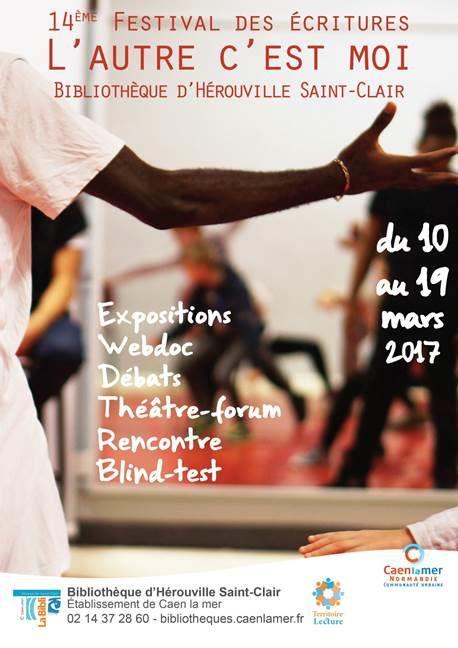 14ème festival des écritures à la Bibliothèque d'Hérouville Saint-Clair !