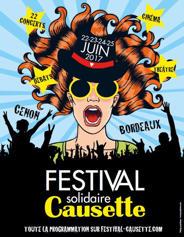 Festival Causette du 22 au 25/06 - #OxmoPuccino - #Yelle et plus .....a #Bordeaux !