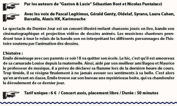 Monsieur Lune en concert au #Normandy - Vendredi 19 mai avec le spectacle jeune public Le Dernier Jour !