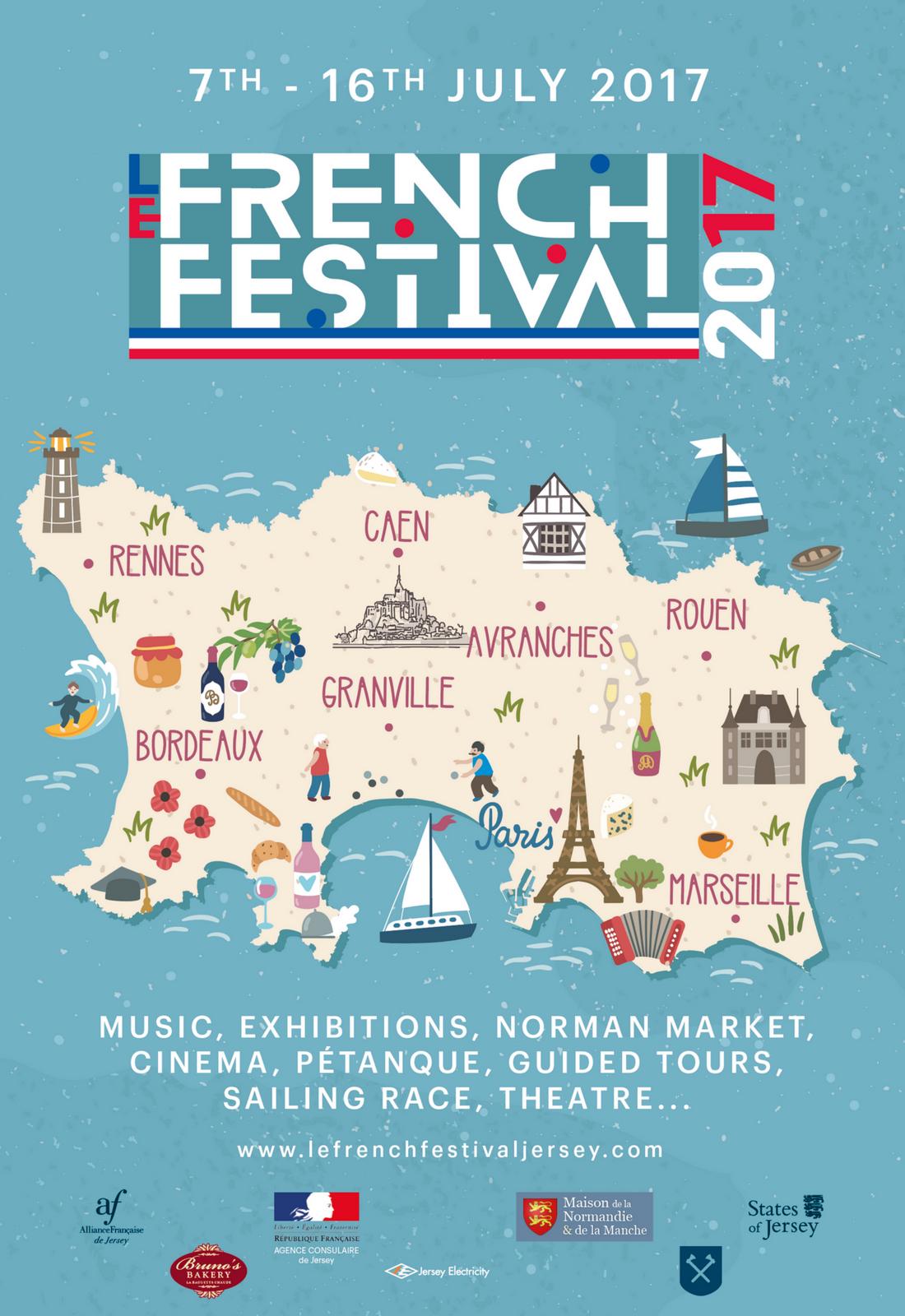 #Manche #Normandie : Programme du FRENCH FESTIVAL À #JERSEY !