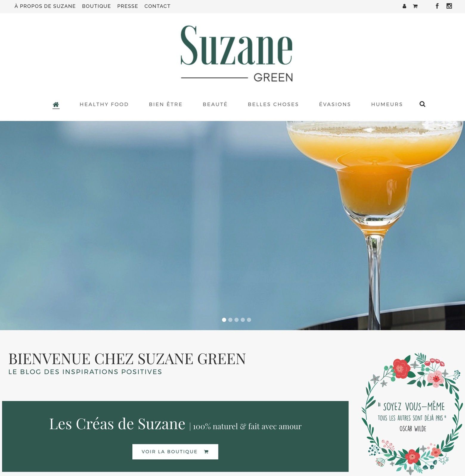 Decouverte : SUZANE GREEN, le blog des Inspirations Positives !