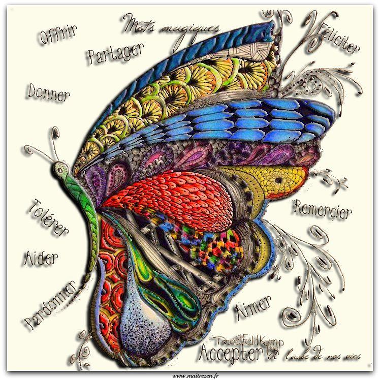 Le papillon du positif