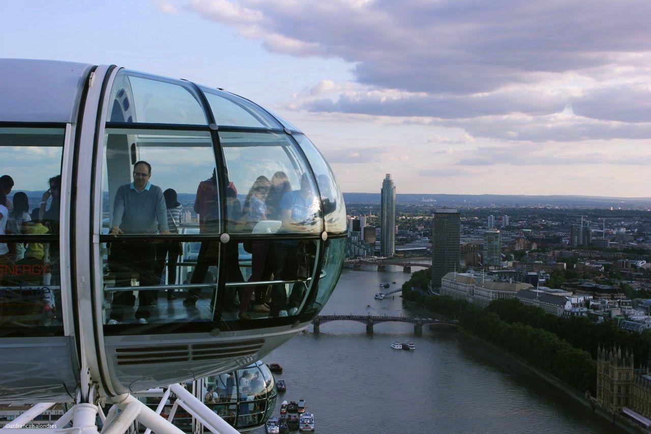UN TOUR DE ROUE DANS LE LONDON EYE!