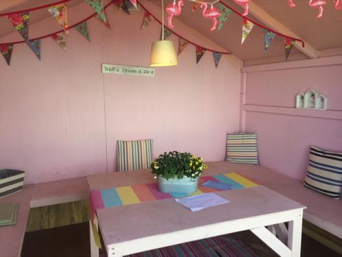 L'intérieur d'une beach hut - Crédit photo : Lilou