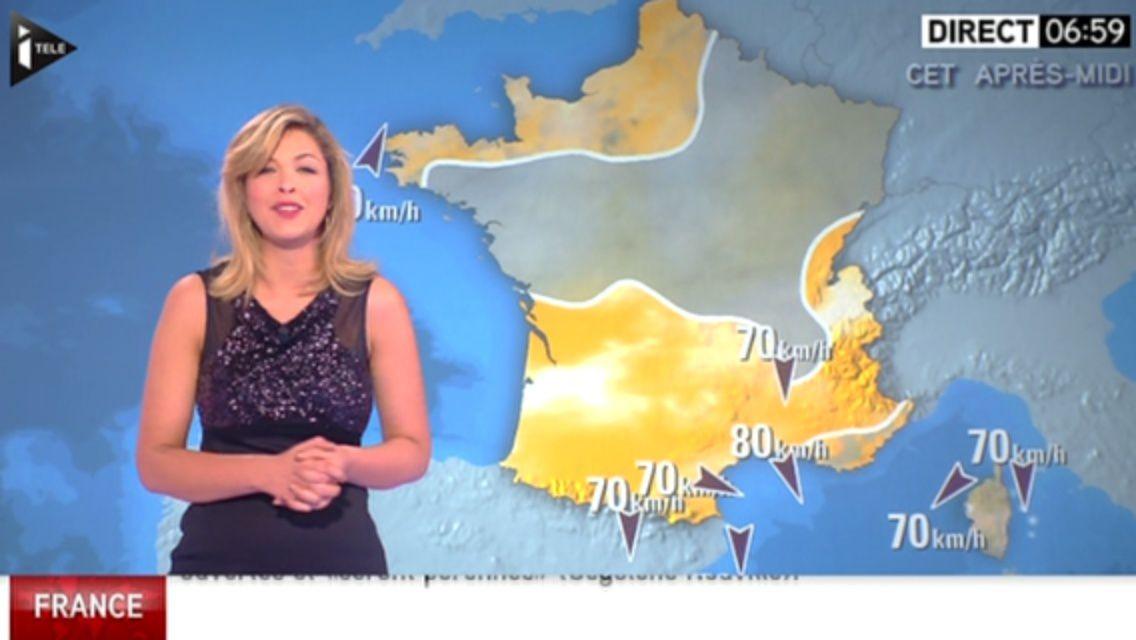 31/12/2014 06:59 ELEONORE BOCCARA - ITELE - LA METEO de LA MATINALE INFO