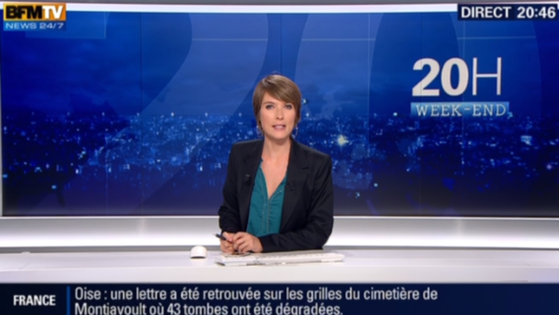 2015 09 04 - LE 20H WEEK-END de LUCIE NUTTIN sur bfm tv