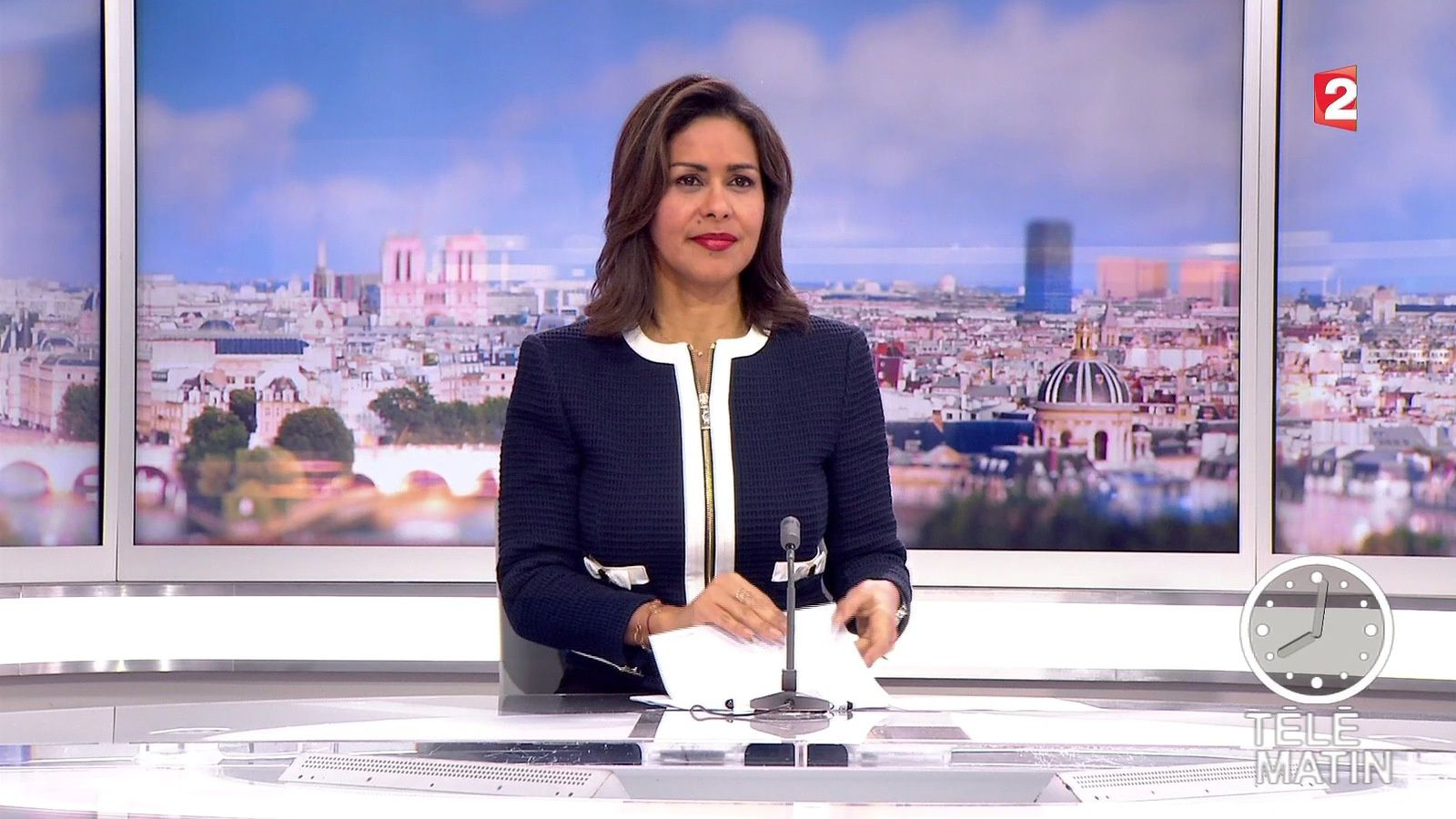 sophie gastrin pour le jt de 8h dans telematin le 2016 04. Black Bedroom Furniture Sets. Home Design Ideas