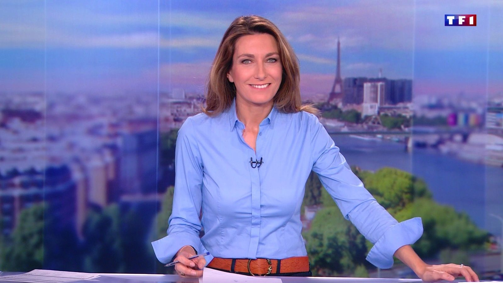 � ANNE-CLAIRE COUDRAY @ACCoudray @TF1 @TF1LeJT pour LE 13H WEEK-END #vuesalatele