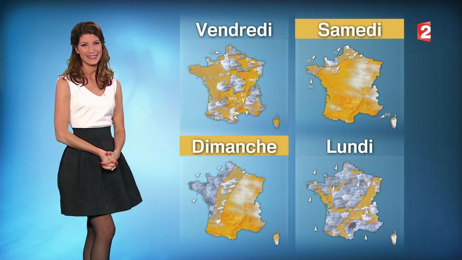�2 �1 CHLOE NABEDIAN @ChloeNabedian @Soniadsm pour LA METEO ce soir @France2tv #vuesalatele