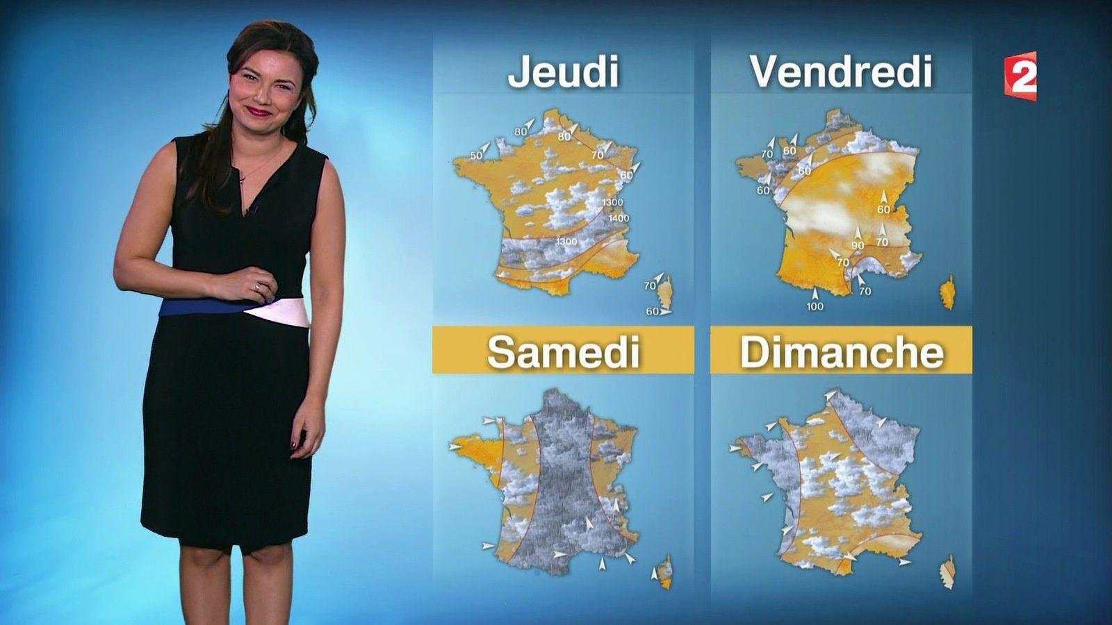 �1 �1 ANAIS BAYDEMIR pour LA METEO ce SOIR @France2tv #vuesalatele