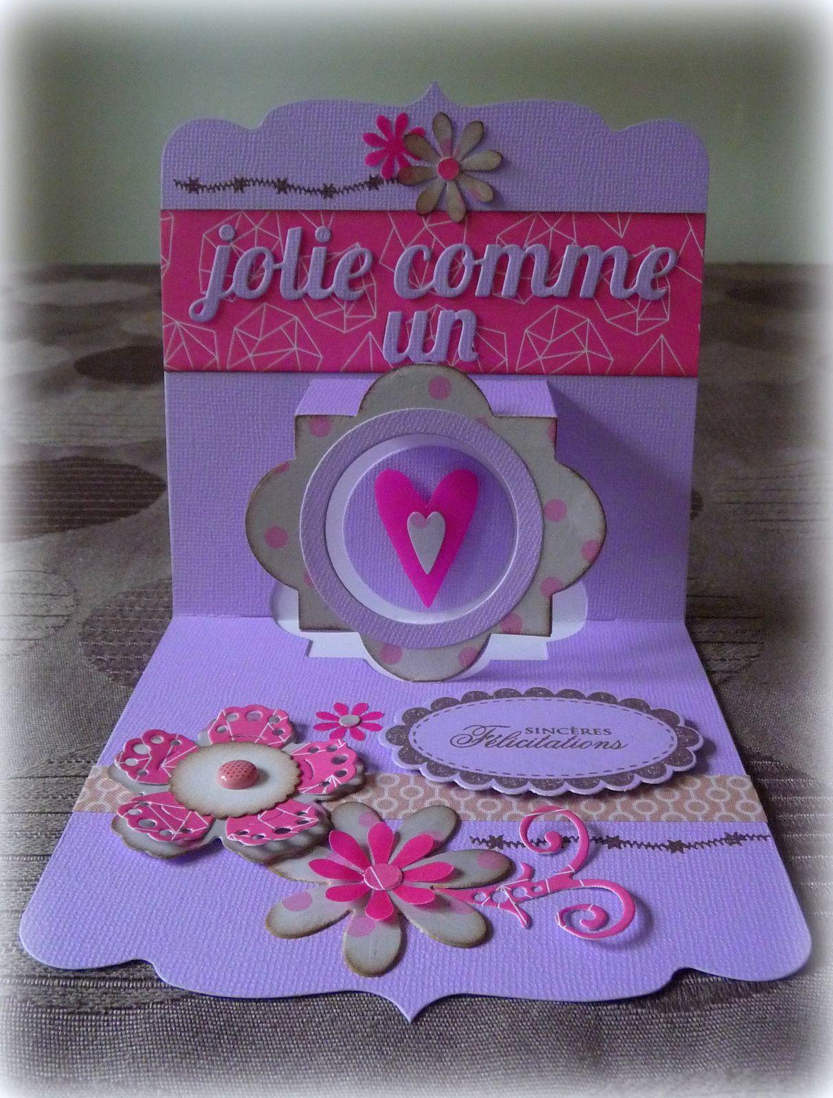 Carte &quot&#x3B;Jolie comme un coeur&quot&#x3B;