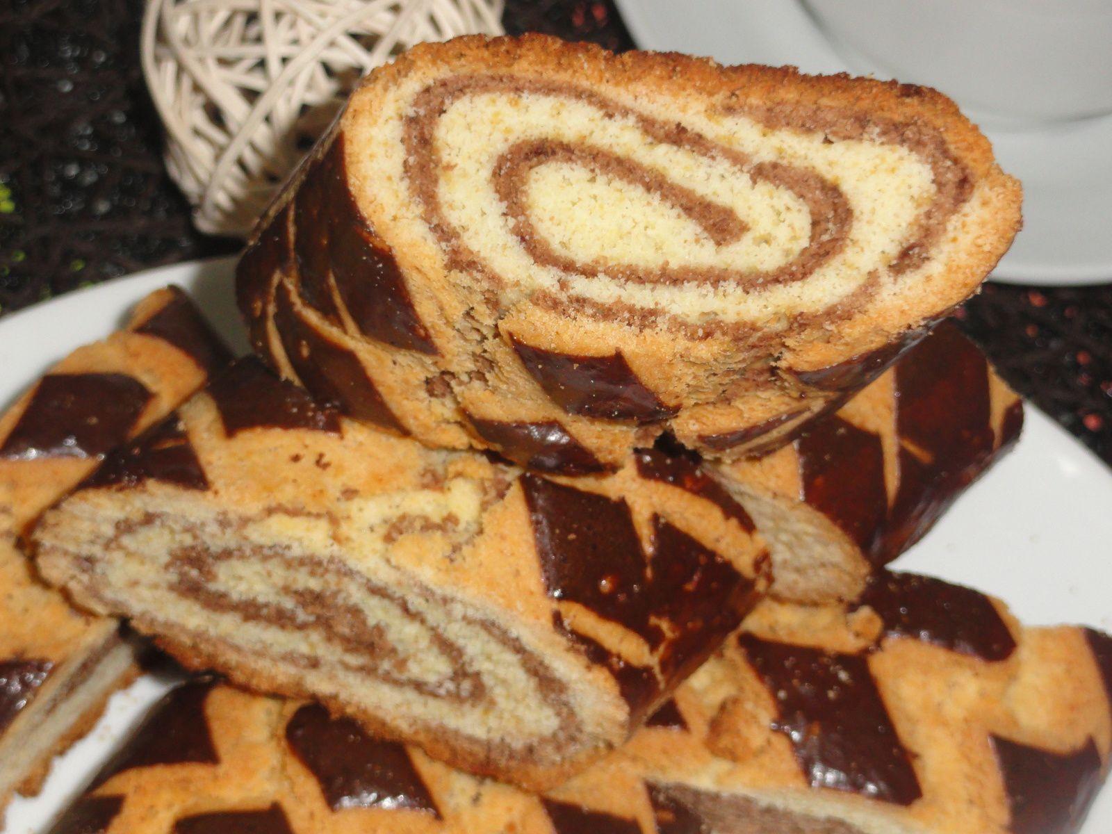 Croquets marbrés au chocolat / gateau Algerien sec