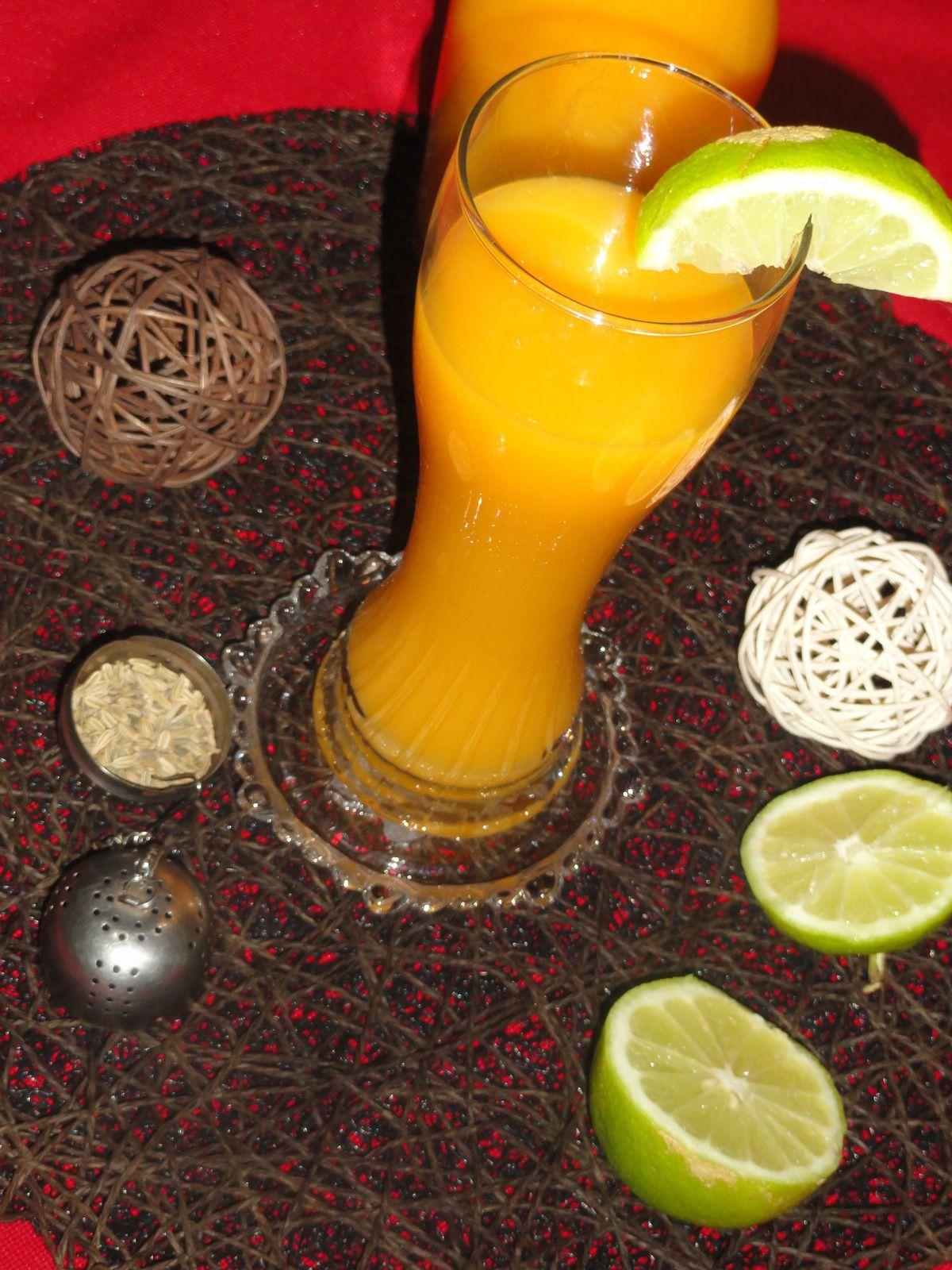 Jus de carotte aux citron et grain de fenouil