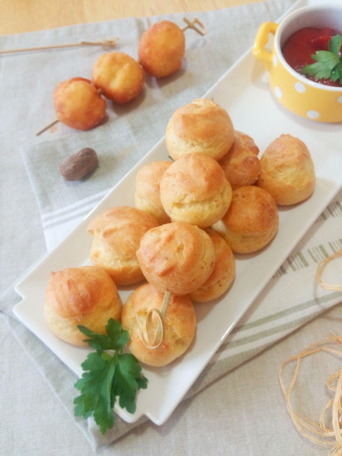 Pomme dauphine au four à la noix de muscade et poivre balnc