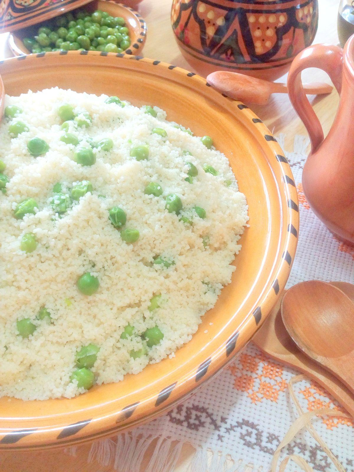 Mesfouf aux petits pois ( Couscous)/ Cuisine Algérienne