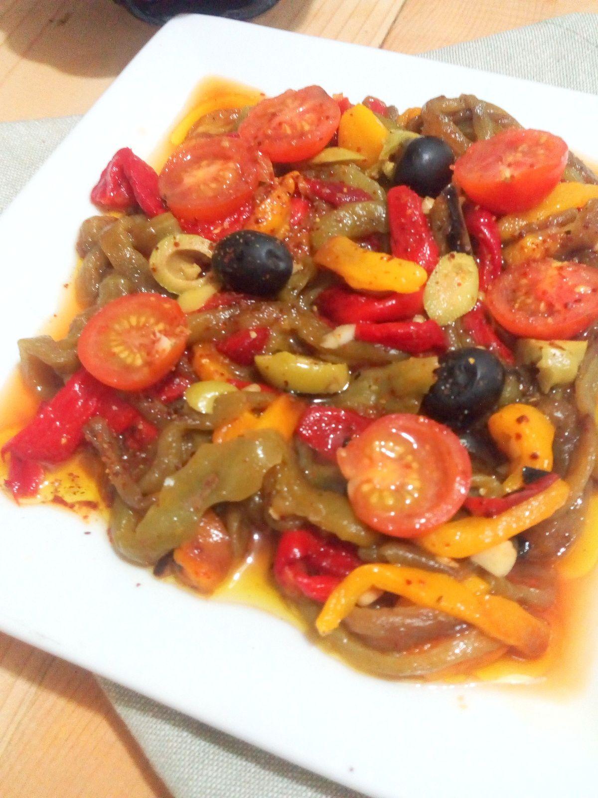 Salade des 4 poivrons  grillés