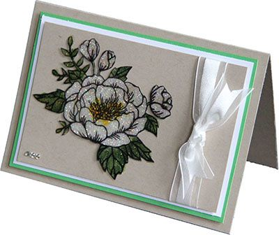 Roses Stampin'Up! effet vitrail