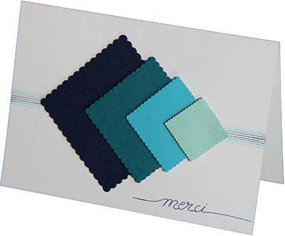 Symétrie et dégradé de bleus