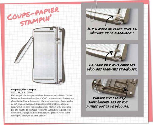 Bonne nouvelle: Massicot Stampin'Up!