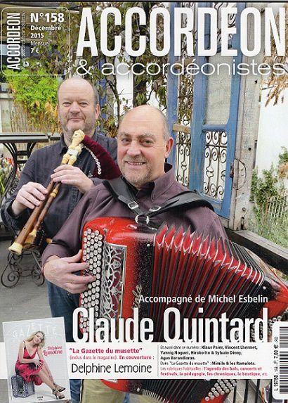 claude quintard, un enfant de la balle accordéoniste et cabretaïre lui même né dans une famille de cafetiers