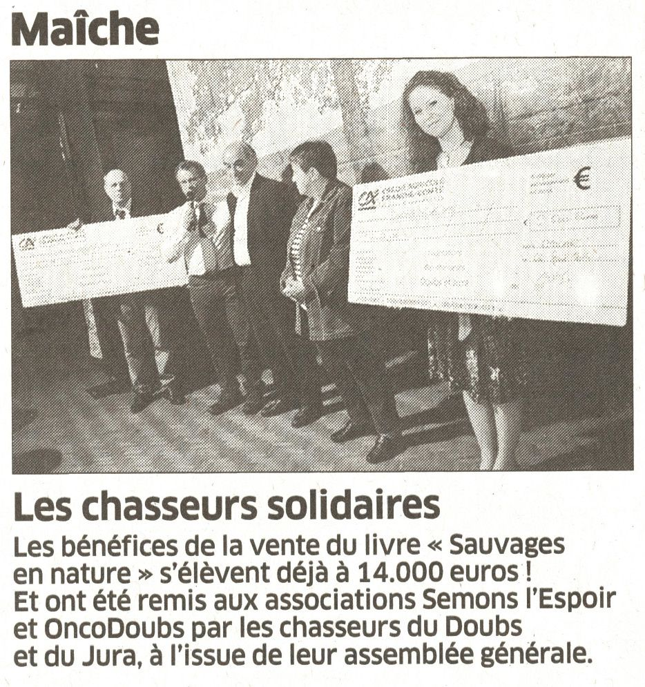 Doubs : les chasseurs solidaires