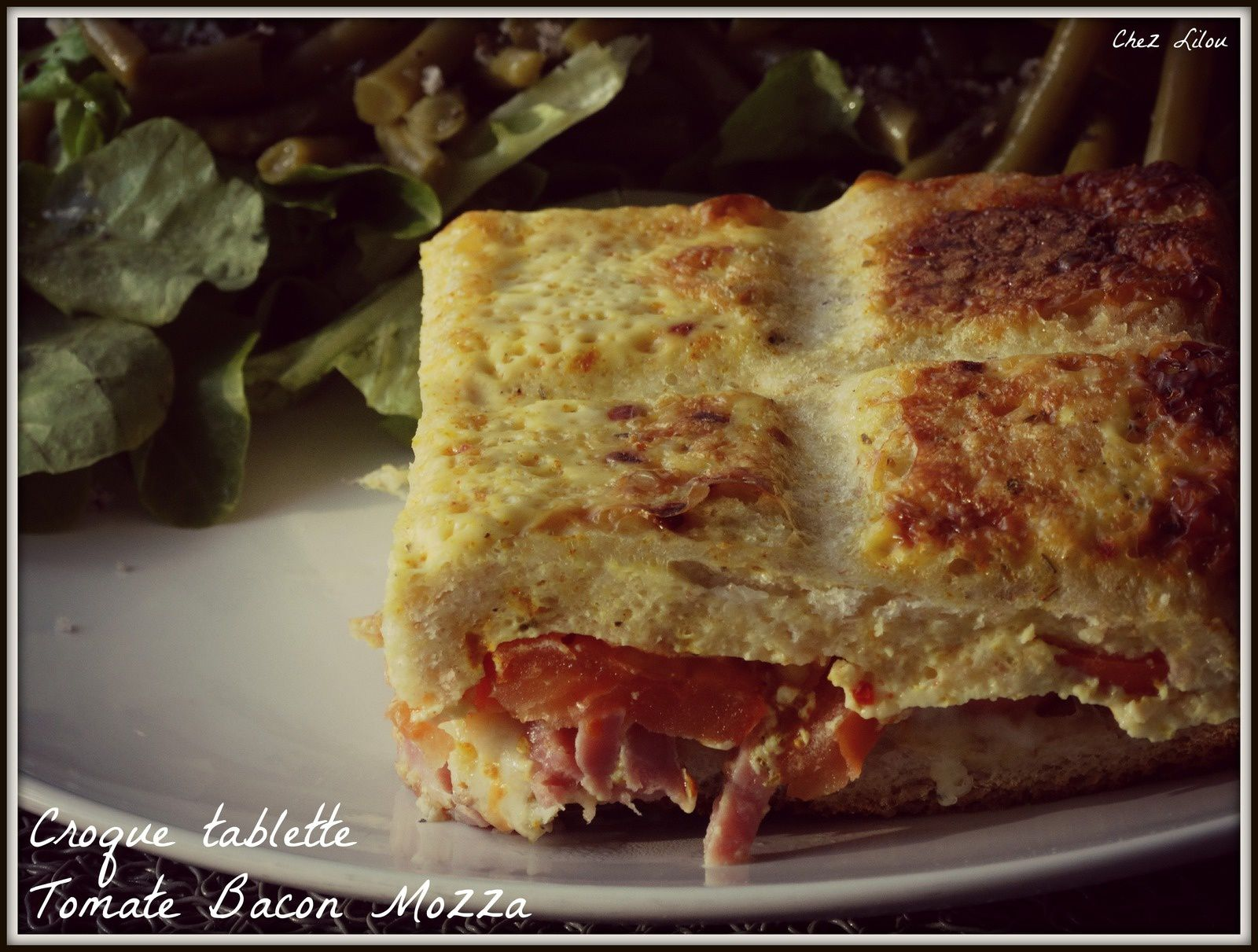 Croque tablettes Tomate Bacon Mozza