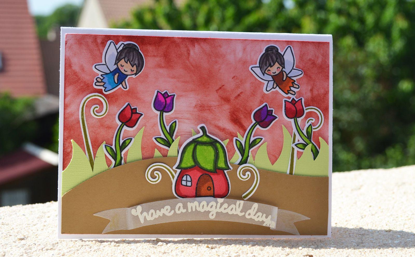 Carte Fairy acec Lawn Fawn