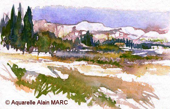 Une place se libère au stage aquarelle de Provence!