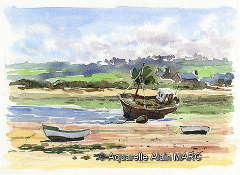 Stages aquarelle et carnet de voyage Alain MARC 2016
