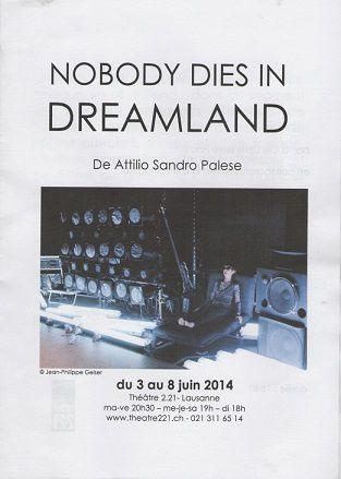 """Nobody dies in dreamland"", au Théâtre 2.21, à Lausanne"