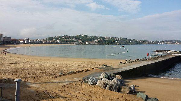 La grande plage de Saint Jean-de-Luz, en fin de matinée, le 20 septembre 2016