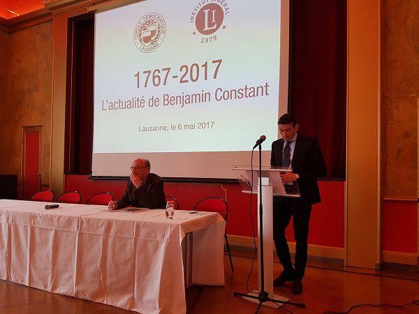 Olivier Meuwly, Cercle Démocratique de Lausanne, et  Pierre Bessard, Institut Libéral