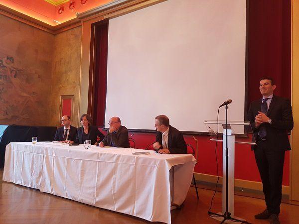 Guillaume Poisson, Karen Horn, Olivier Meuwly, Carlo Lottieri et Pierre Bessard