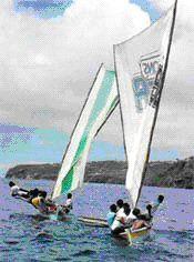Martinique - Fabrication des &quot&#x3B;Gommiers&quot&#x3B; (bateaux de pêche)