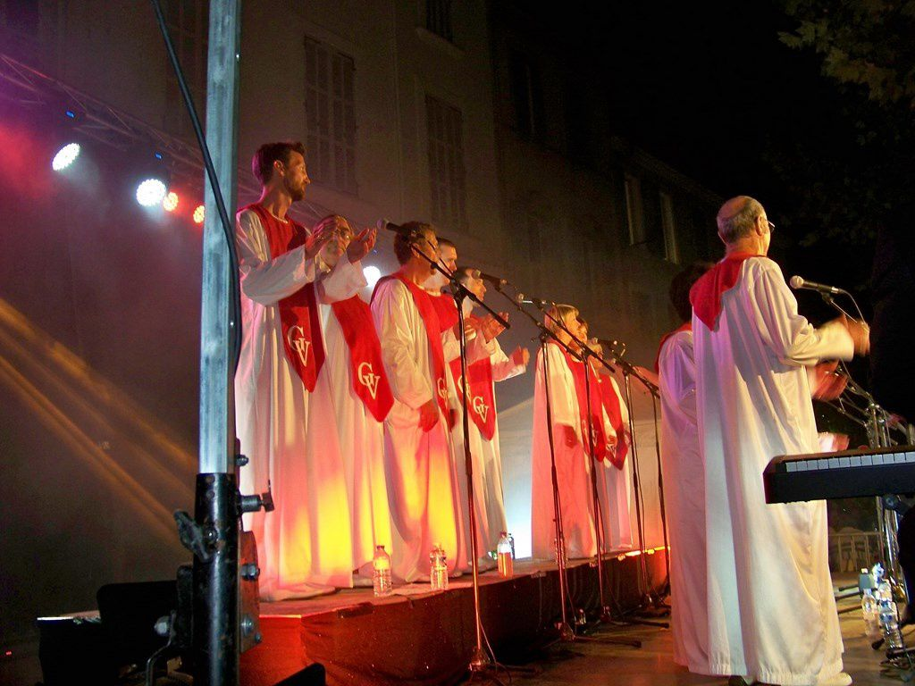 Le gospel a résonné sur la place de la cité