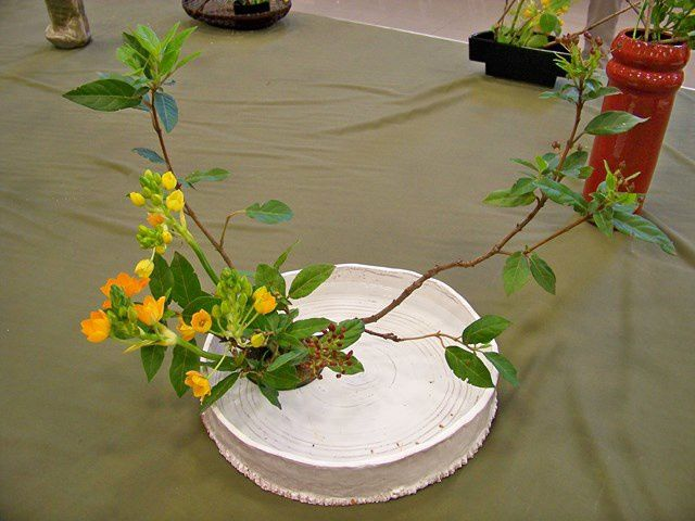 L'art floral japonais a séduit le public