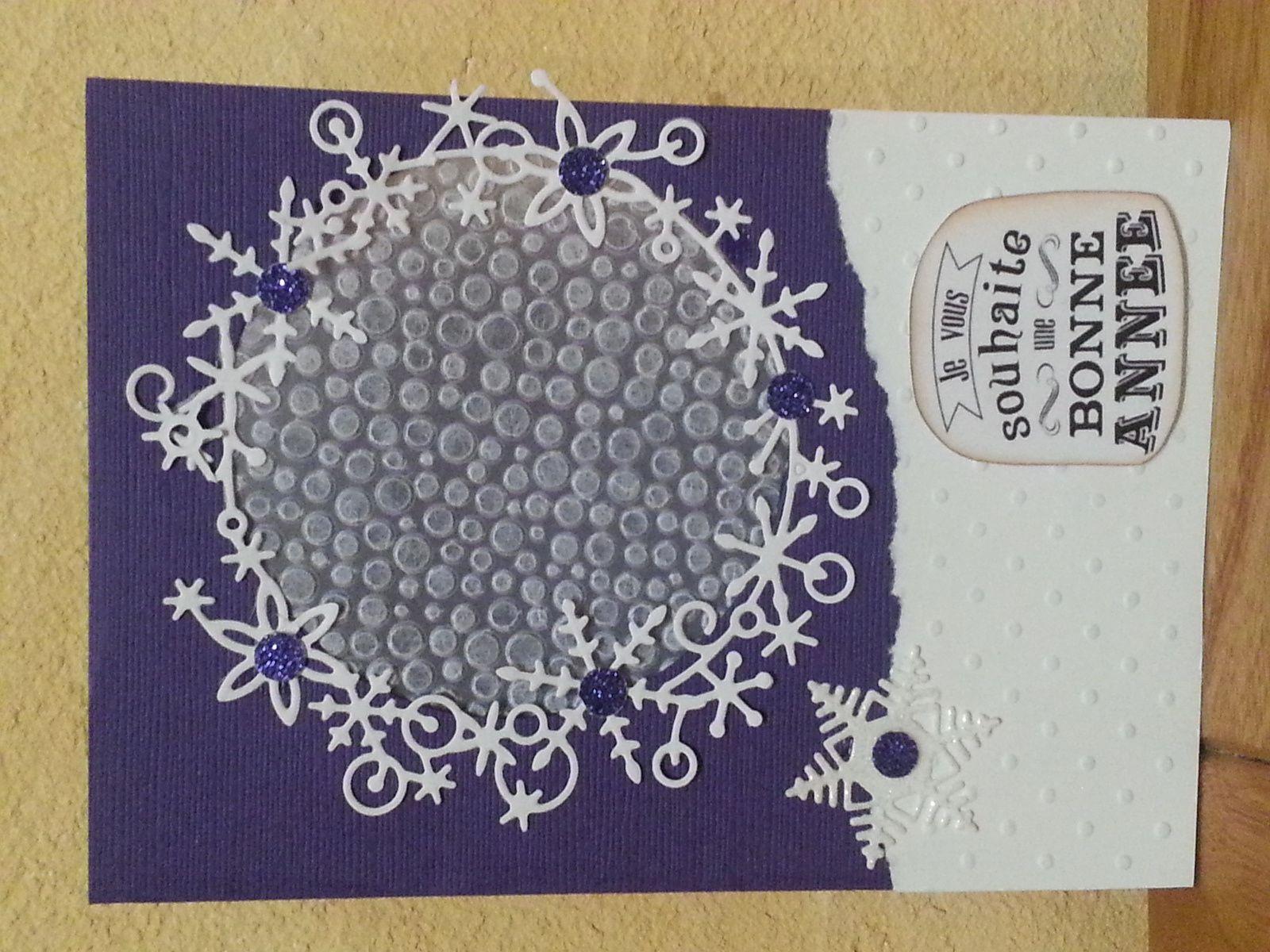 De Coco, une très belle carte dans les tons violets comme j'aime &#x3B;)