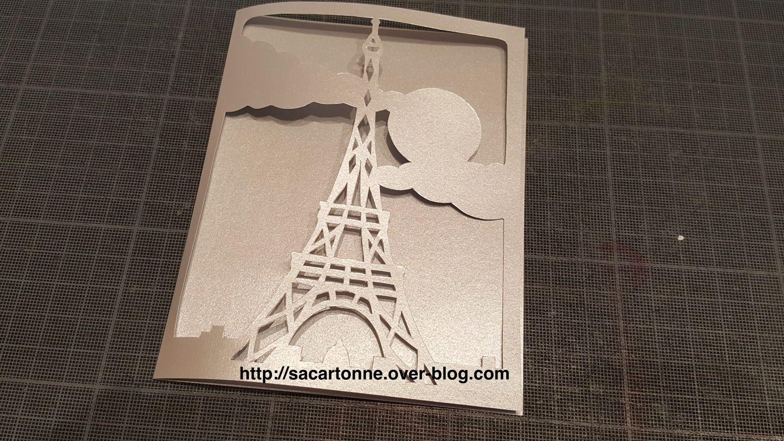 Kirigami gratuit Tour Eiffel