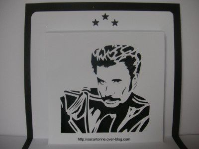 Kirigami gratuit Johnny Halliday