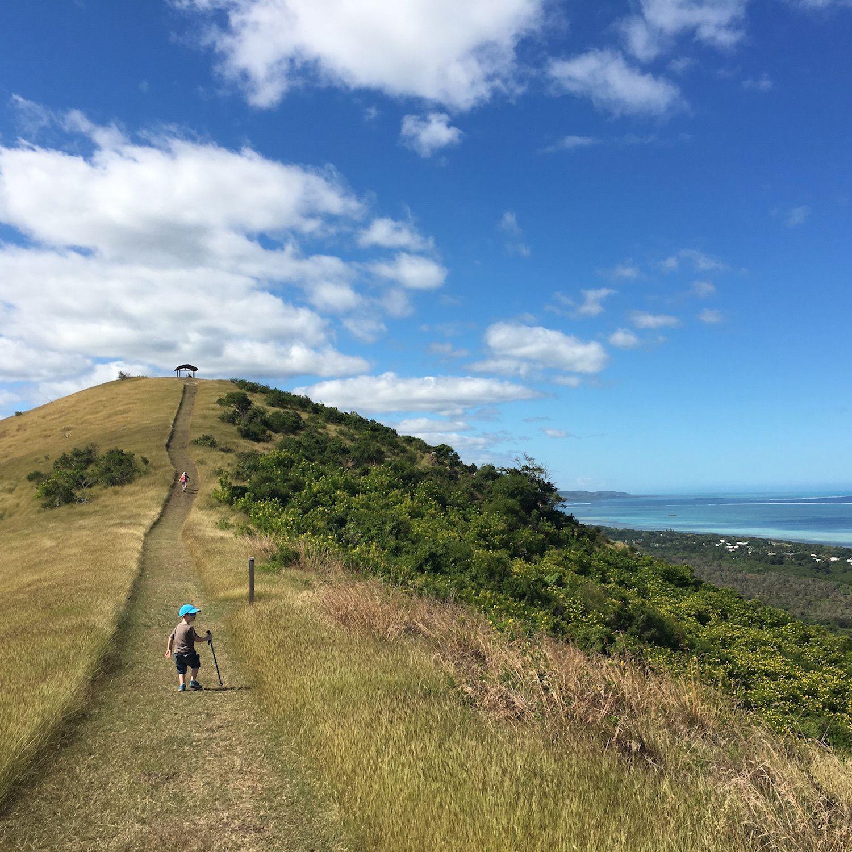 Début de la randonnée et montée vers le point de vue