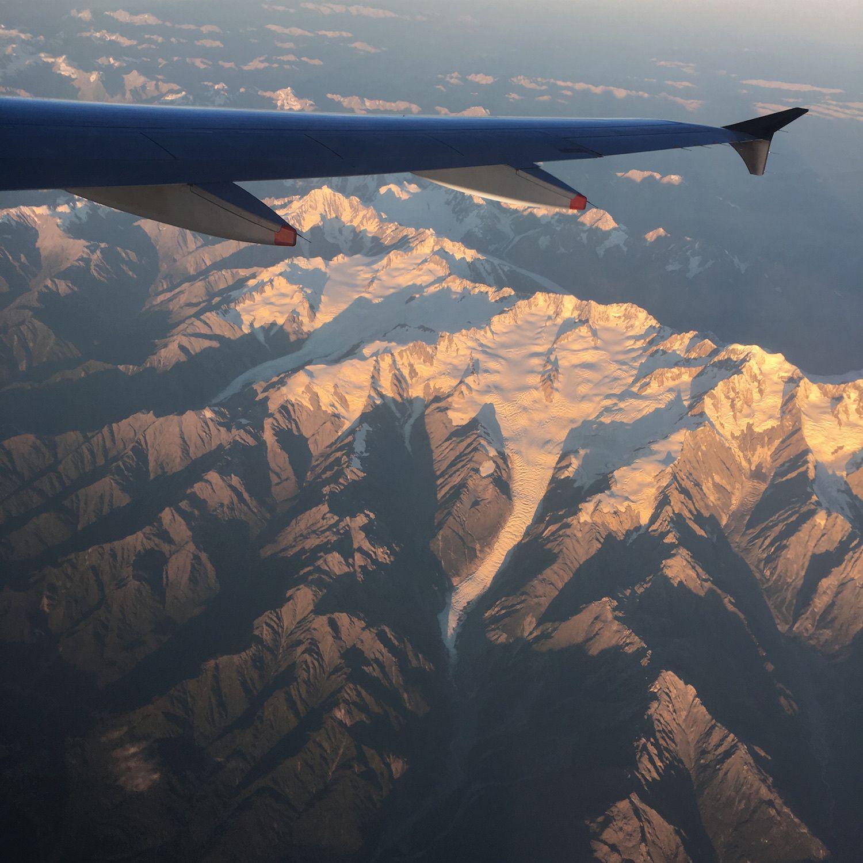Lac de Wakatipu juste après le décollage puis survol du Mount Cook