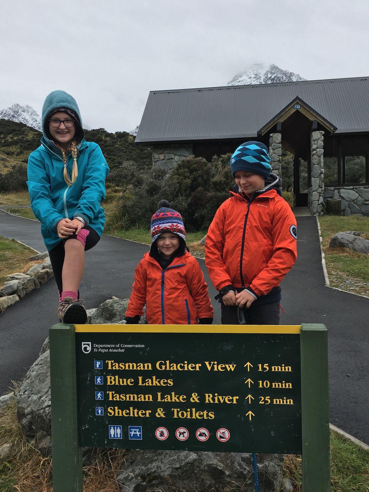 Randonnées faciles dans la Tasman Lake Valley ~ Mt Cook ~ Nouvelle Zélande