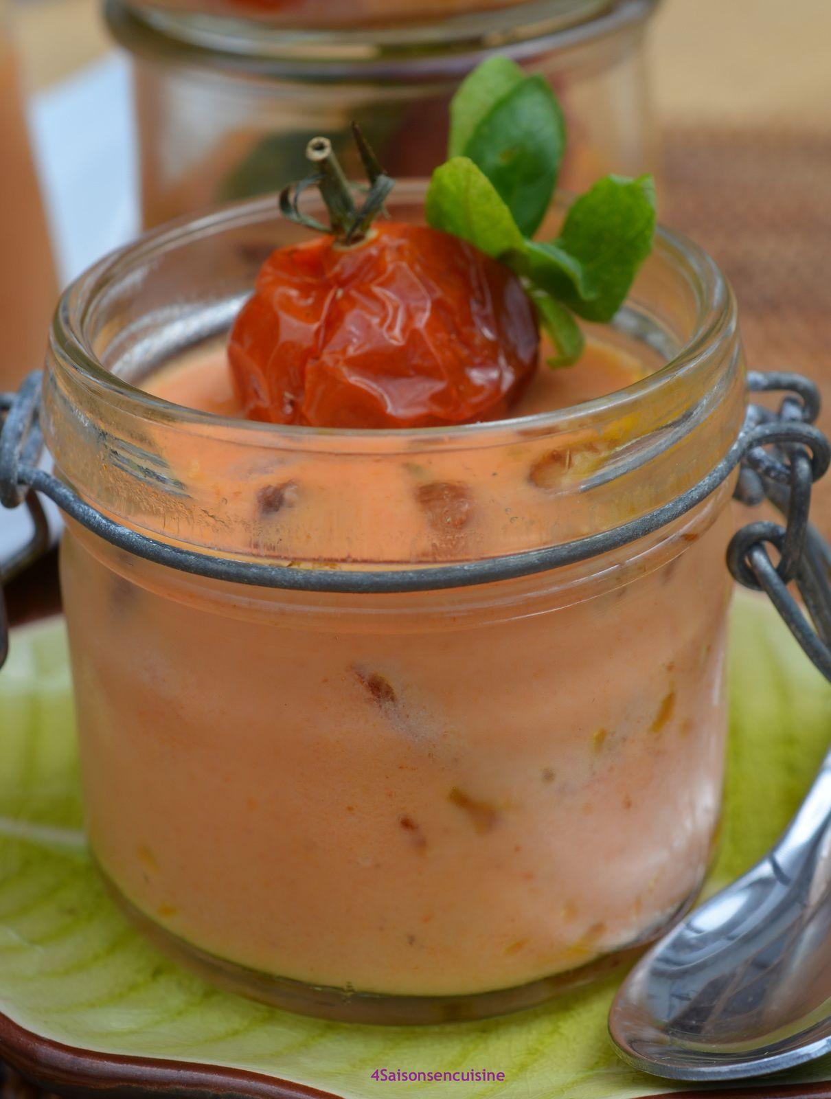 Panna cotta tomates semi-confites