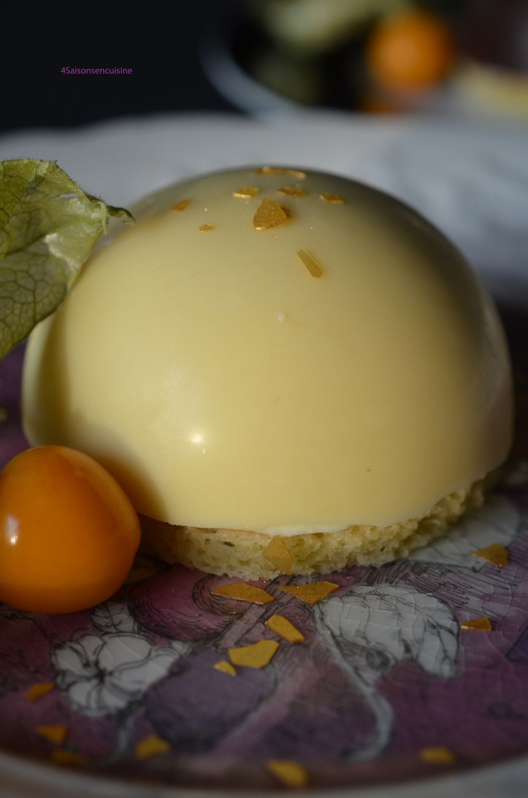 Dômes chocolat, coeur citron vert