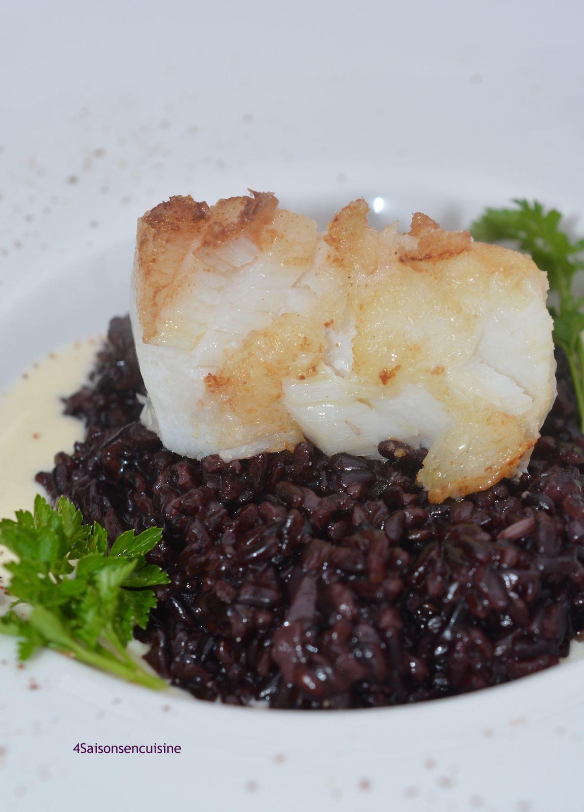 Dos de cabillaud et riz venere 4 saisons en cuisine - Cuisiner des dos de cabillaud ...