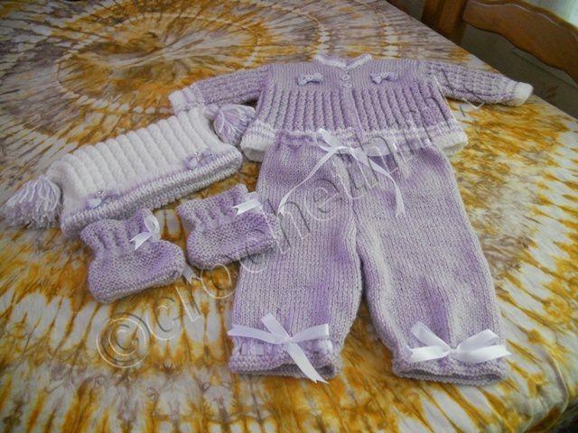 ensemble bébé au tricot de 0-3 mois