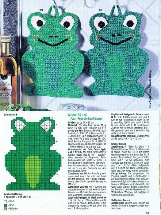 manique grenouille &quot&#x3B;modéle gratuit à télécharger&quot&#x3B;