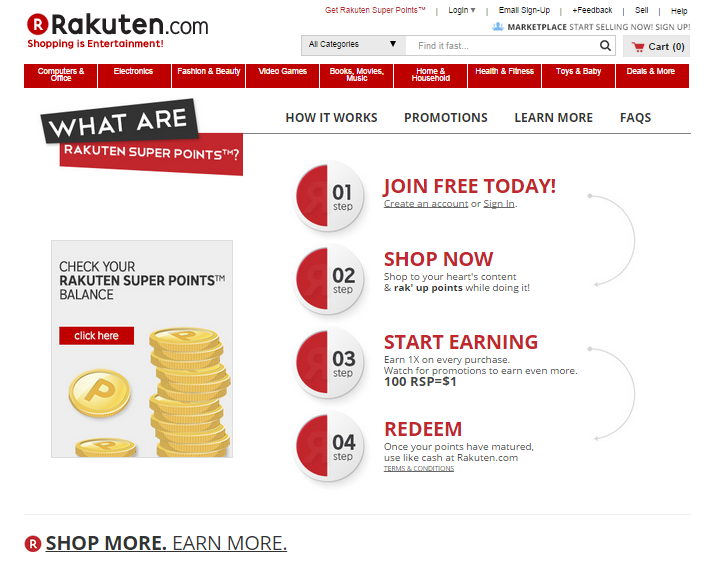 Rakuten étend son loyalty program à 13 000 retailers Brick &amp&#x3B; Mortar.