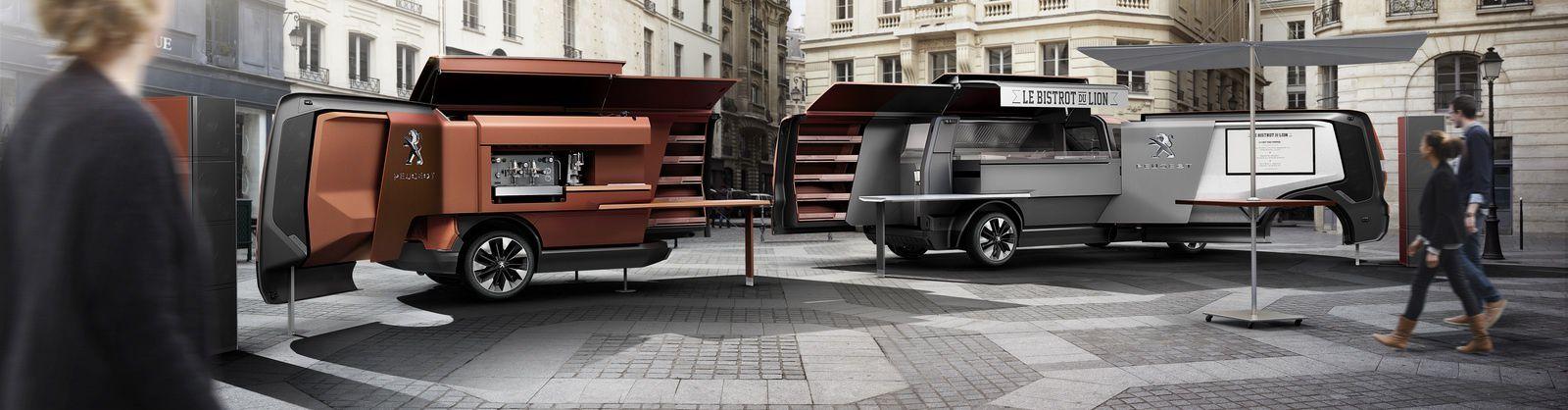 Le Food truck de Peugeot à l'exposition universelle de Milan.